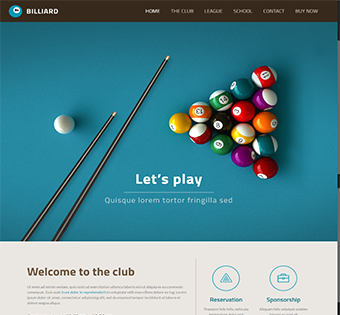 Billiards Wordpress