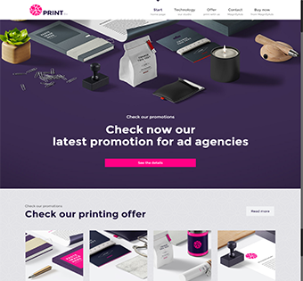Print Wordpress Theme Design